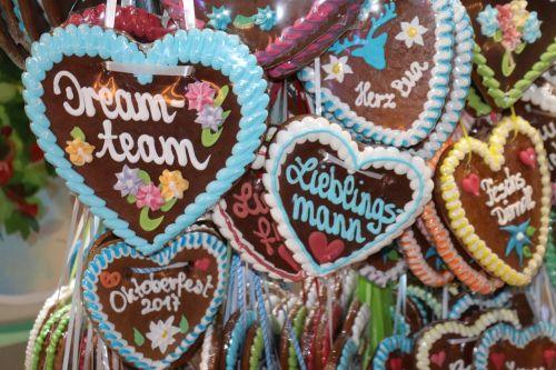 oktoberfest heart gingerbread heart
