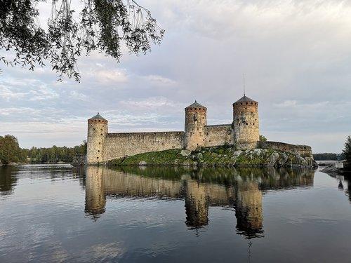 olaf's castle  castle  savonlinna