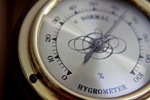 old hygrometer gold
