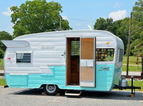 old restored camper recreation