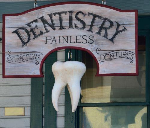 old dentist sign signage