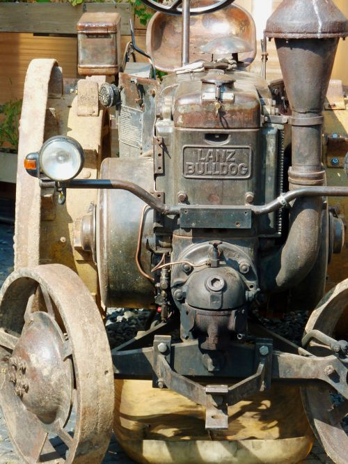 old bulldog historical agricultural machinery
