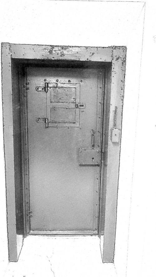 old jail black white