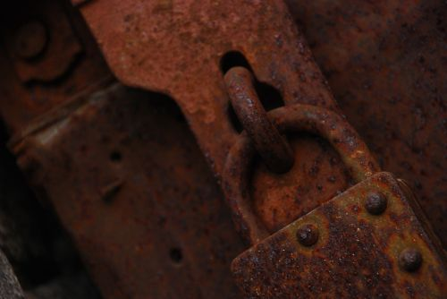 old old lock rusted lock