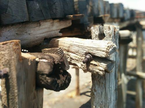 old wood rail