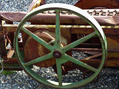 old rusty harrow