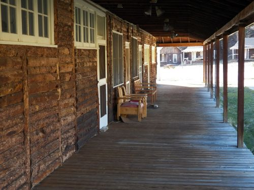 old western porch