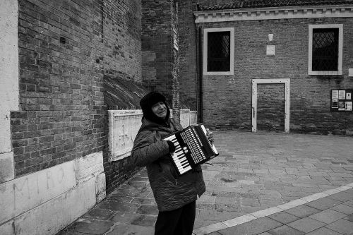 old man accordion