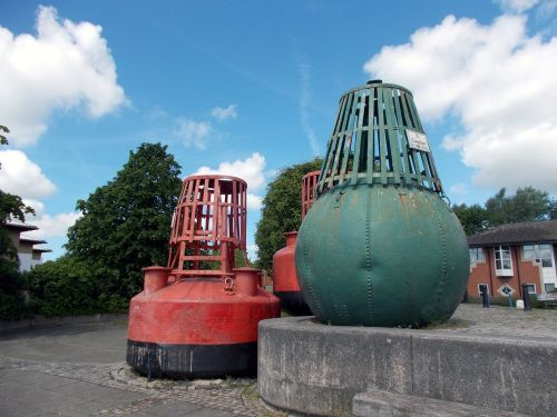 old channel buoys