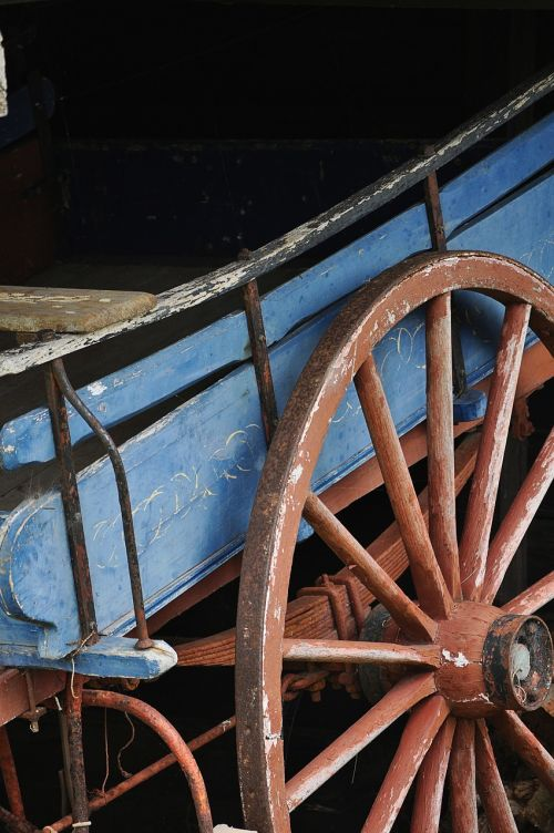 old rustic wagon