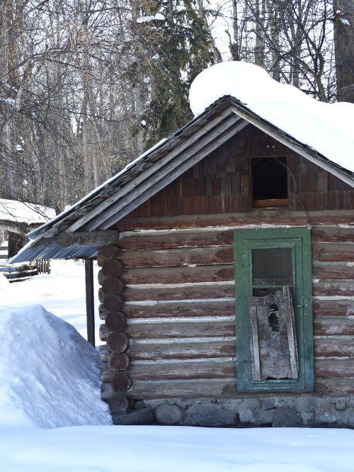 old log cabin vintage