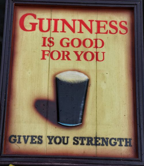 old guinness sign