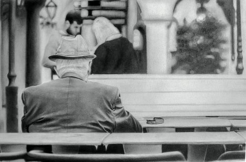 old thoughtful age