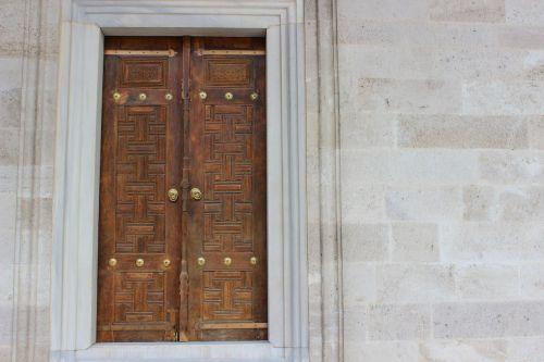 old door on