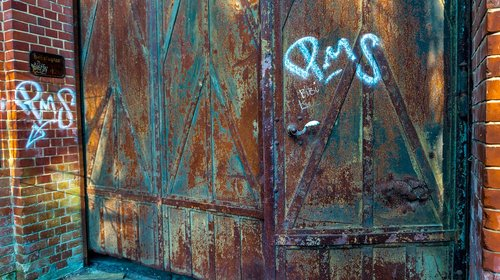 old  painting  door