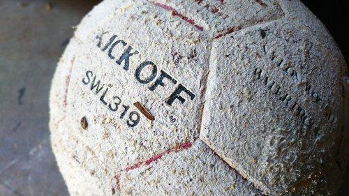 old  ball  worn