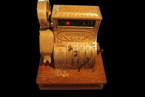 old  retro  cash machines