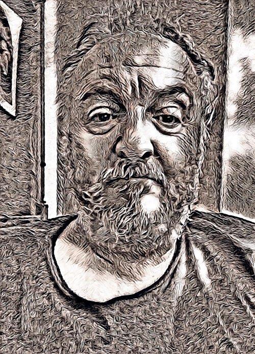 old  portrait  man