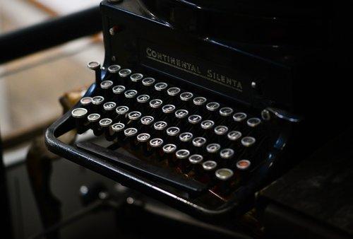 old  typewrite  black