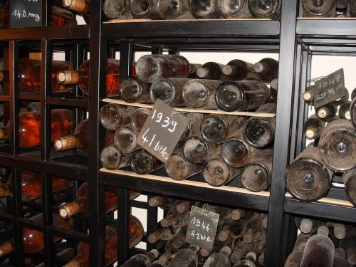old wine bottles wine