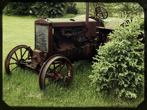 old tractor farm equipment