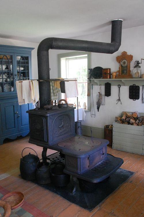 old wood stove wood