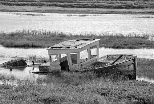 old boat  sea  seascape