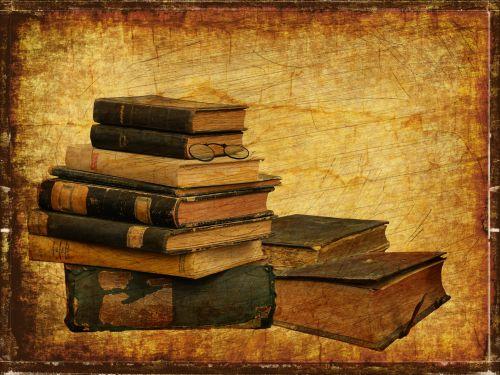Old Books Vintage Background