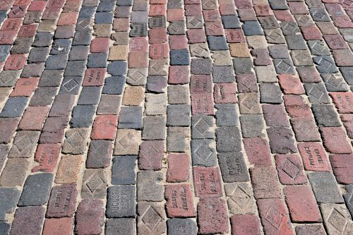 old brick road street red brick