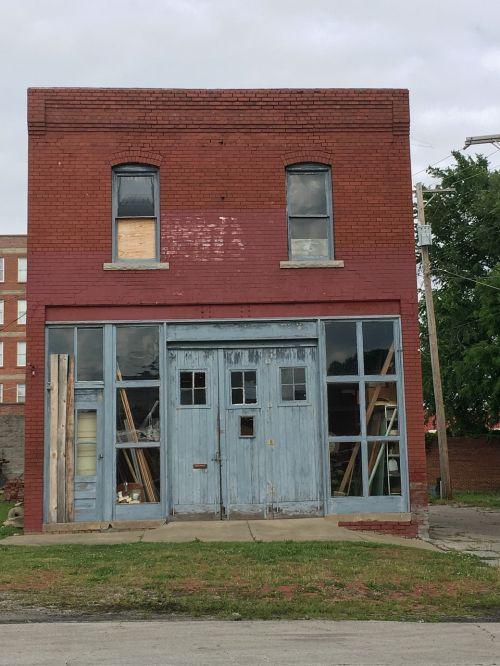old building brick windows