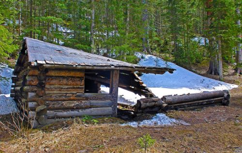 old cabin cabin dilapidated