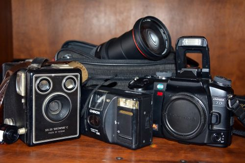 old cameras old-fashioned photography