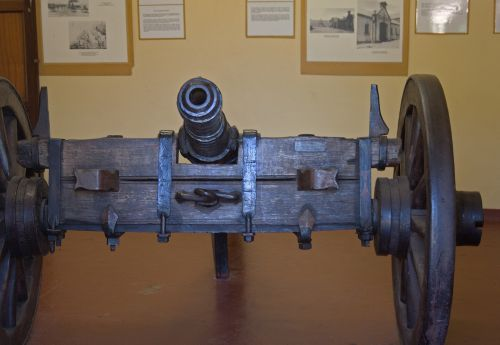 Old Canon On Display Inside Fort