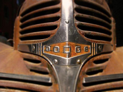 old car dodge front
