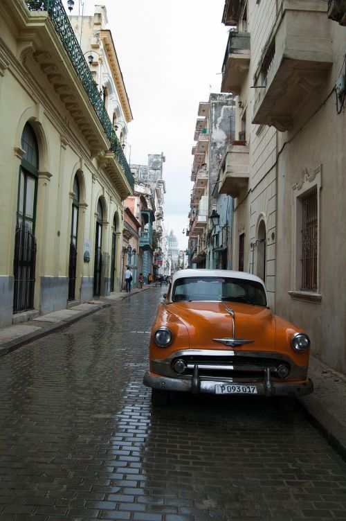 old car travel street