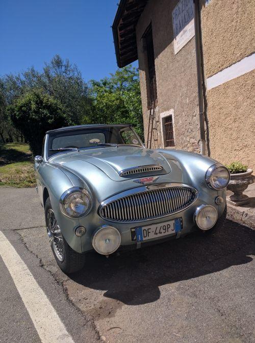 old car austin healey convertible