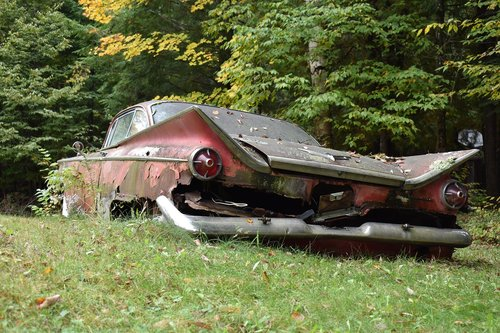 old car  rusting  broken
