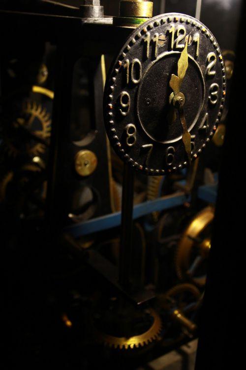 old clockwork clock analog clock