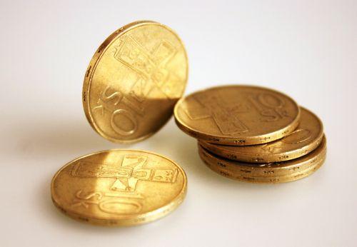 senos monetos,slovak,auksas