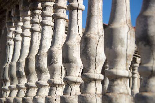 old columns sky summer