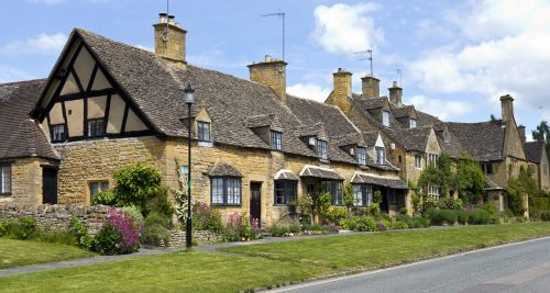 old cottages terraced architecture