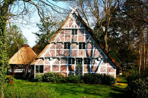 old country thatched cottage historically