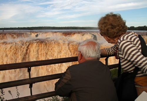 old couple enjoying happy