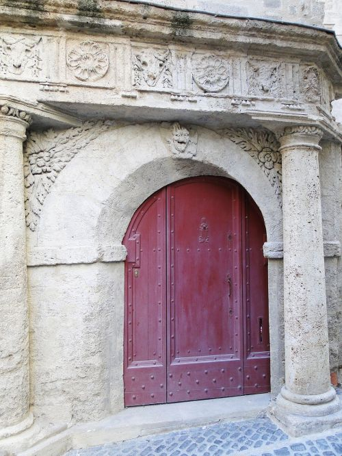 old door city gate former