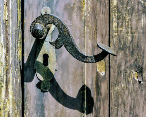 Old Door Handle Metal