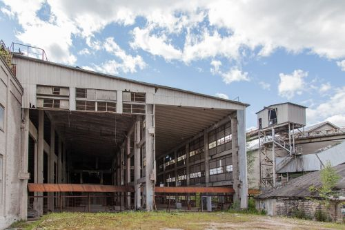 old factory abandoned outdoors