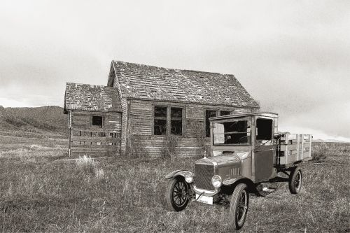 old farm house ford t truck