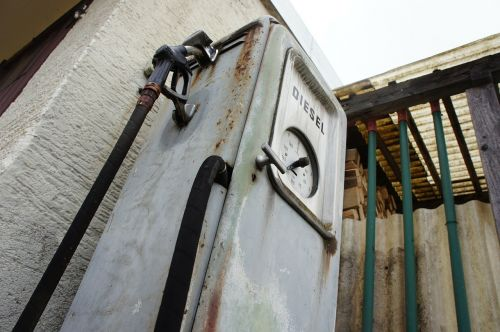 old gas pump diesel gas pump