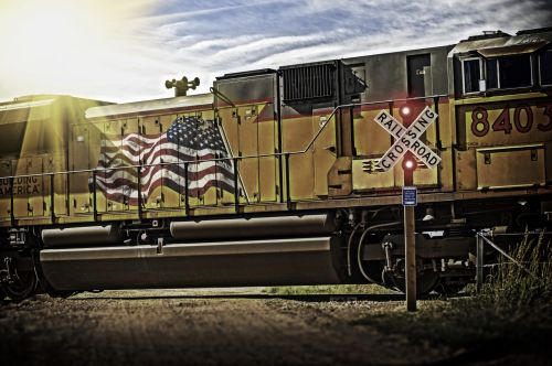 Old Glory Rides The Rails