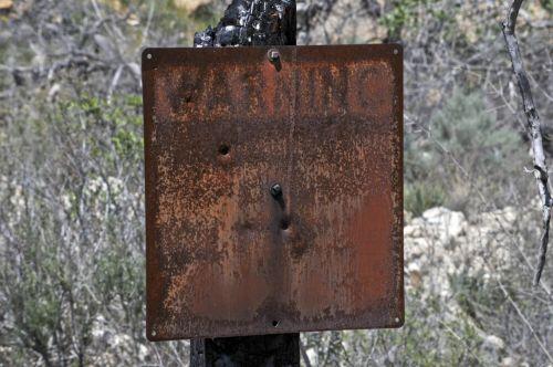 Old Grunge Warning Sign